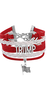 Trump 2020 Bracelets President Trump Infinity Love Bracelet Keep America Great  Republican Gift