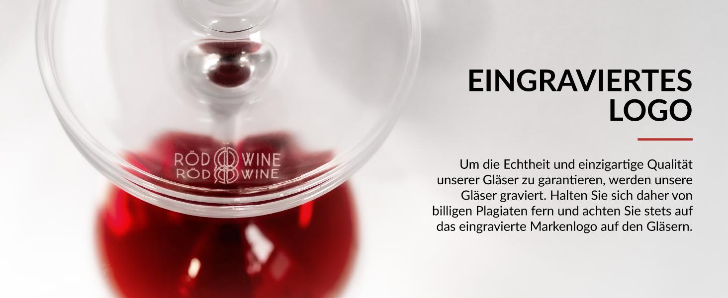 Rotweinglas Set in Premiumqualität mit Gravur