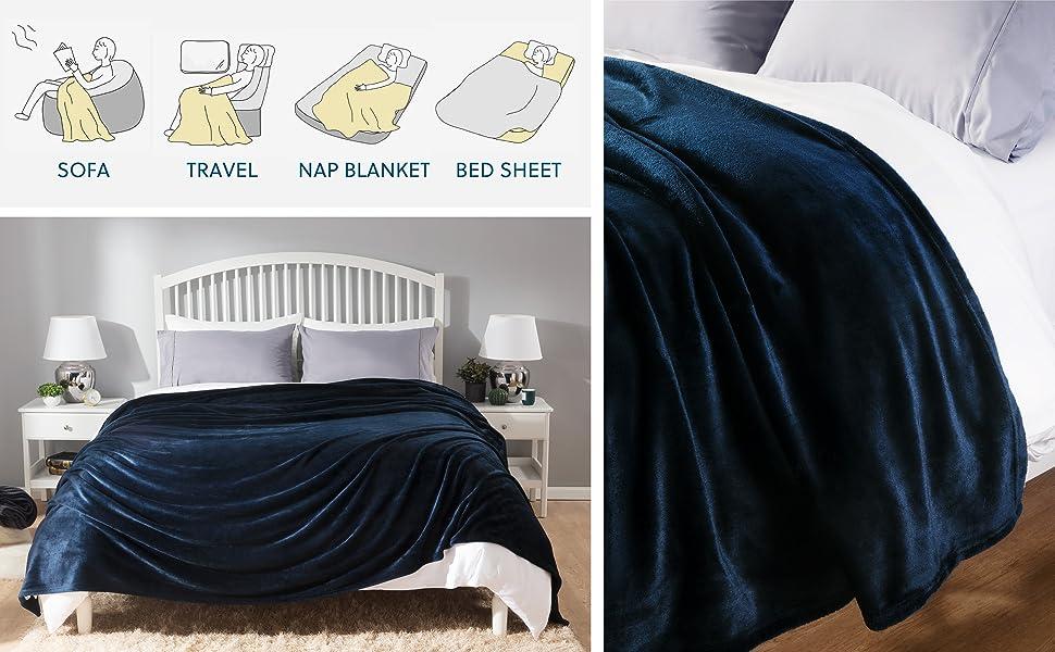 Versatile usage scenarios of the Flannel Fleece Blanket