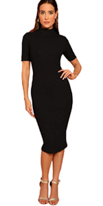Women Mock Neck Dress
