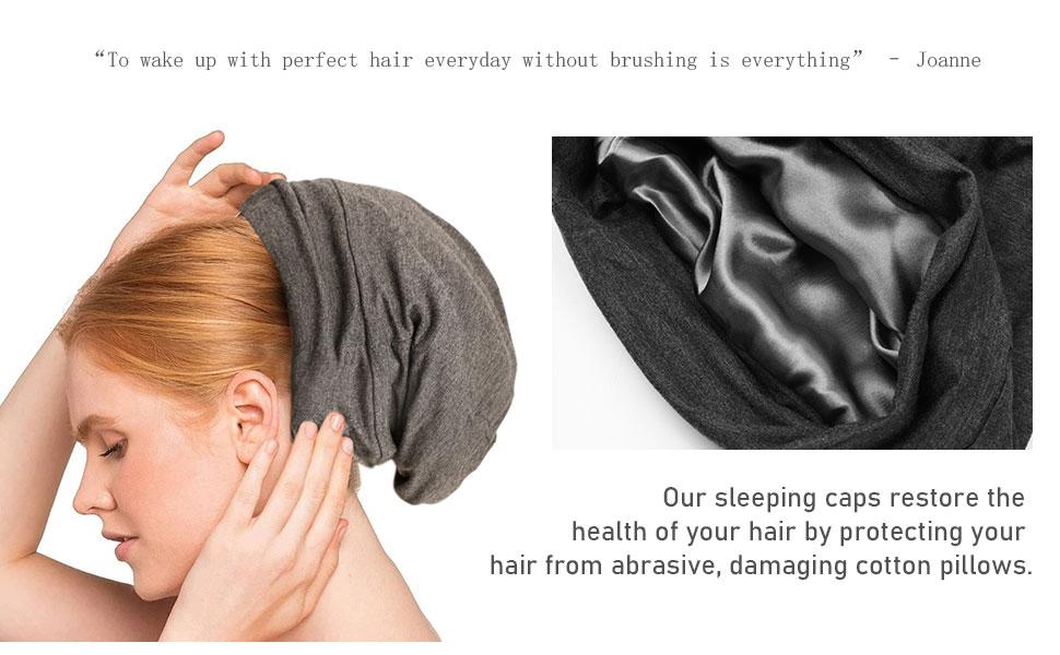 Adjustable Frizzy Hair Beanie