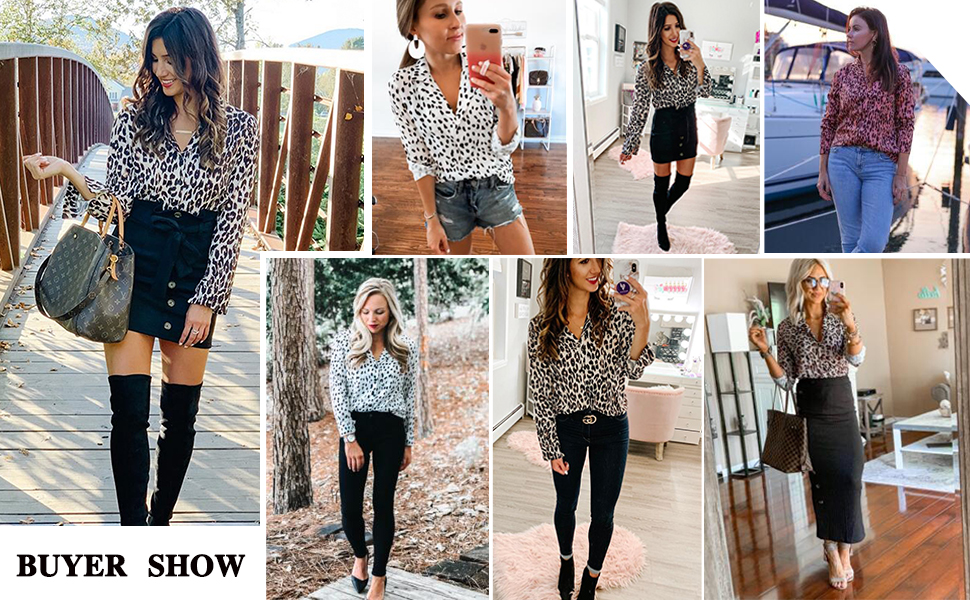 Womens autumn casual blouse tops