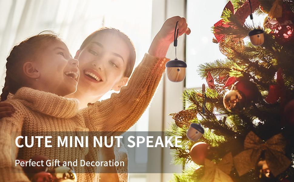 jsaux cute mini nut speaker