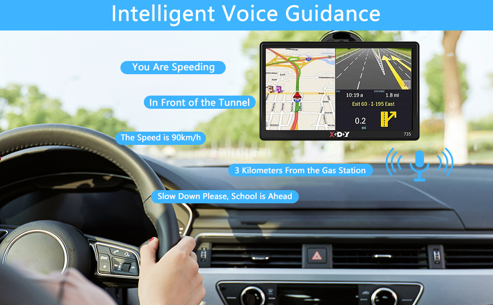 Commercial 7 Inch HD Touch Screen Car Vehicle GPS