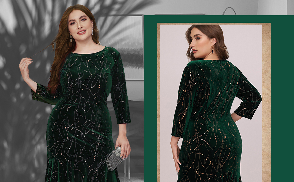 vintage green velvet dress cocktail dress prom gown