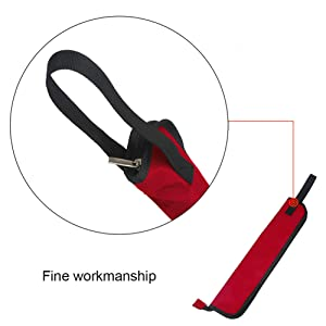 Dilwe Bolsa para Baquetas de Batería, 5 Colores Baquetas Bolsa Colgante del Almacenamiento Palillo de Tambor Portátil Bolsa(Rojo)