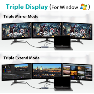 MST Triple Display for Windows