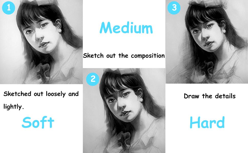 professional black art pencils, black pencil sketching, drawing sketch pensil, pencils for artists