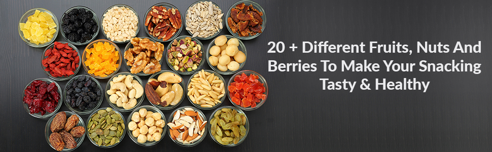 Super Healthy Dry Fruit Nuts, Seeds & Berries Mix | Nutritious and Crunchy Trail Snack