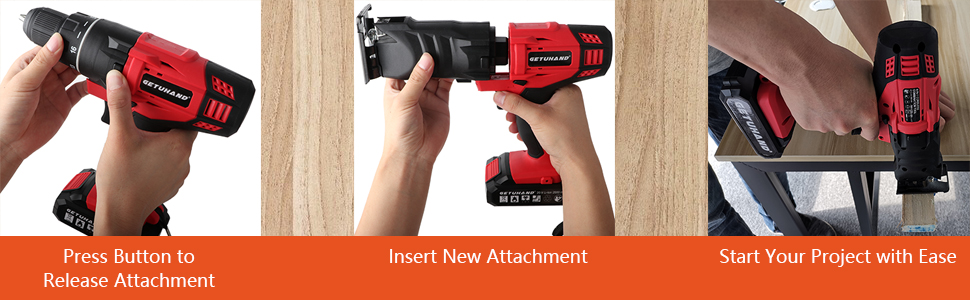 change the power tools heads