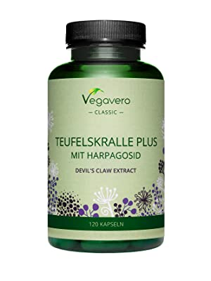 Harpagófito Plus Vegavero® | Con Extractos de Jengibre & Salix Alba | Antiinflamatorio & Analgésico Natural | Dolores Articulares | SIN ADITIVOS | 120 ...