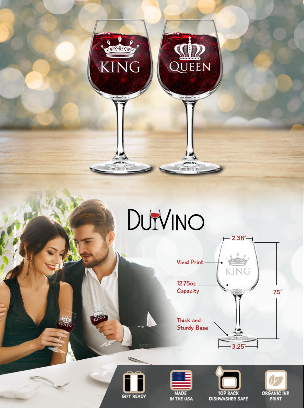 King Queen Wine Set
