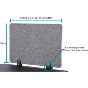 refocus raw acoustic privacy clamp on desk divider