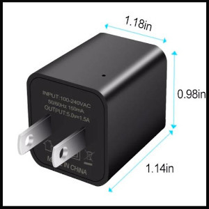 Dimensions Small Secret Home Cam Smart Wall Charger Spies Tool