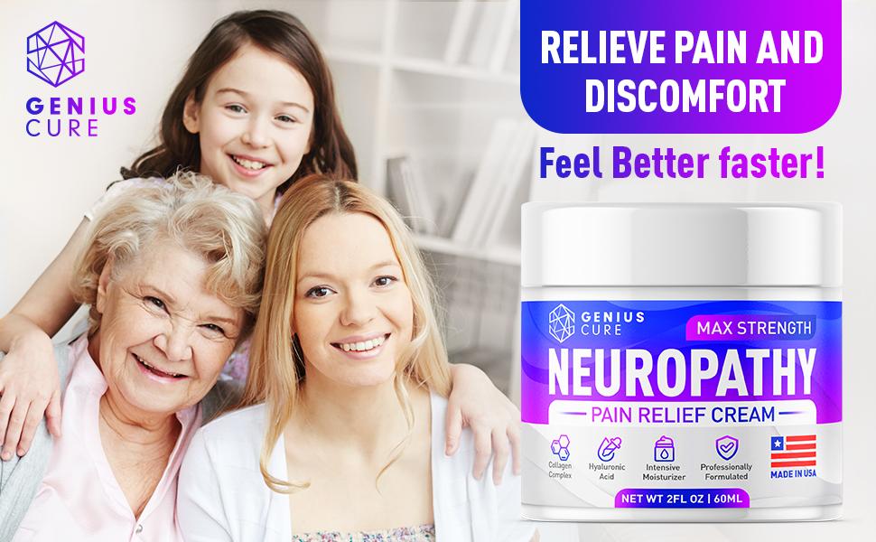 Nerve pain relief cream