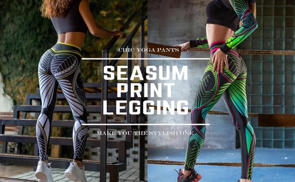 Leggins Deportivos Mujer Pantalones con Estampado para Mujers Pantalones de Yoga Impresi/ón en Color Tie-Dye,Damas Leggings de Cintura Alta con Bolsillos,Leggins Control Abdomen Push Up Pants