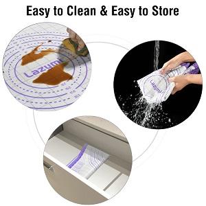 Facile à nettoyer et Stocker Tapis de Cuisson