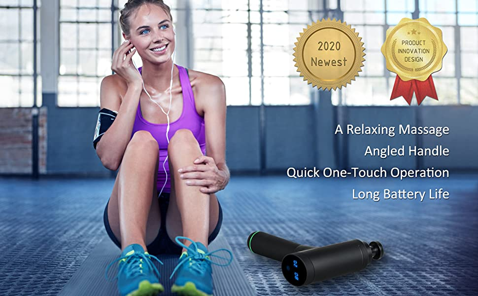 EUROTO Massage Gun [2020 Newest] Deep Tissue Percussion Muscle Handheld One-Click Electric