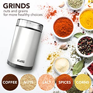grind, beans, spices, coffee, nuts, corn