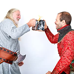 Viking horn mug coffee cinema cup genuine horn true craftmanship norse norska vikings raider warrior