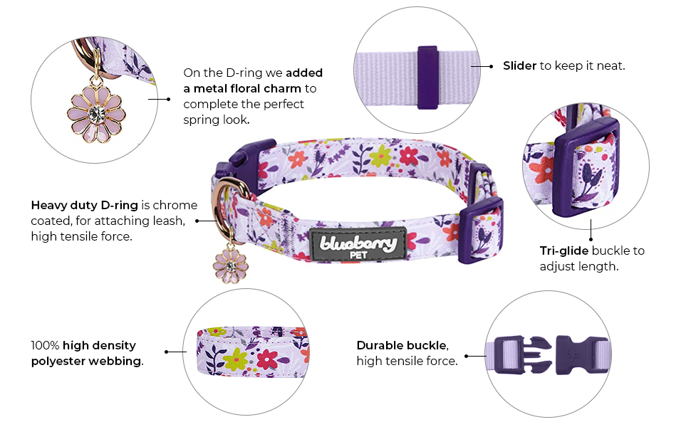 features of floral collar