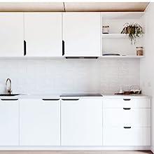 Goldenwarm Tab Edge Pull Black Mount Finger Pull Hidden Door Handle For Kitchen Cabinets 128mm 5in Center To Center Ls7027bk128 10pack Home Improvement