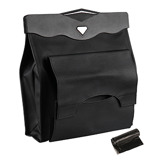 trash bag with tissue holder