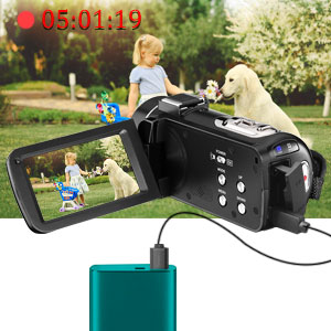 Flashandfocus.com 9e6e7689-419d-418f-a78b-71b5473f7eb0.__CR0,0,300,300_PT0_SX300_V1___ Video Camera 2.7K Camcorder with Microphone Ultra HD 36MP Vlogging Camera for YouTube IR Night Vision 3 Inch Touch…