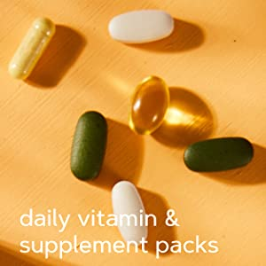 daily vitamin & supplement pack