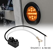 """4pc Amber 2.5"""" 13-LED Clearance Side Marker accessories included."""