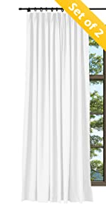 TWOPAGES Linen Cotton Pinch Pleat Curtain