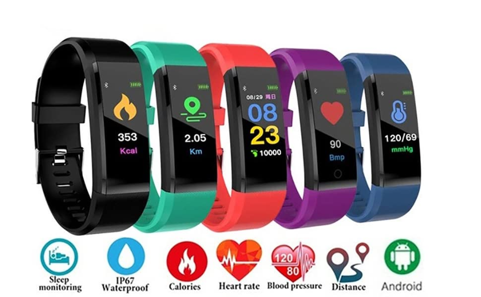 Multi-Colour Smart Fitness Band