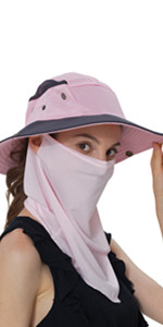 Sun Hat with Neck & Face Cover