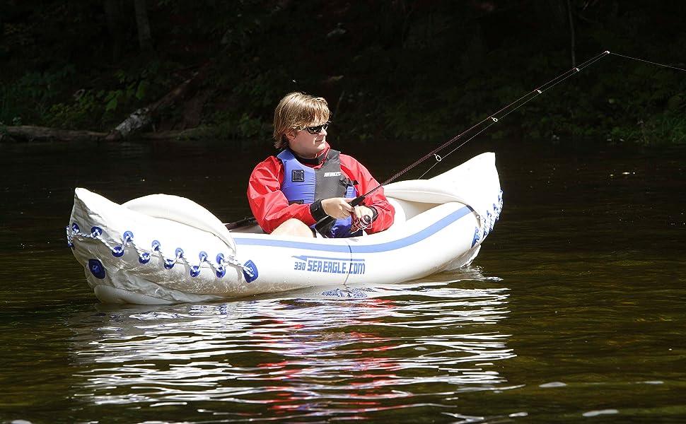 Inflatable Kayak, Sport Kayak, Tandem Kayak, Solo Kayak, Sea Eagle. 330