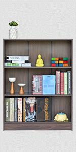 DeckUp Muvo Book Shelf/Display and Storage Unit (Walnut, Matte Finish SPN-FOR1