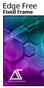 Akia screens Edge free Fixed Frame CineWhite UHD-B 180 degree viewing angle home ISF Greenguard gold