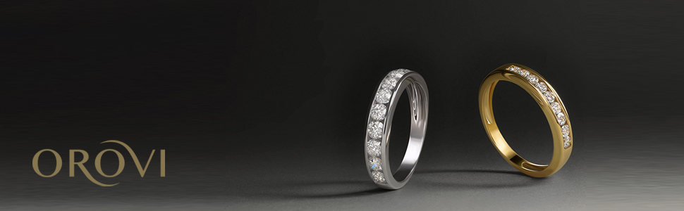 eternity ring yellow gold diamond ring pavè diamonds brilliant cut ring with diamond line yellow