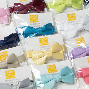 Optional Gift Box Spring Notion Boys Pre-Tied Banded Satin Bow Tie