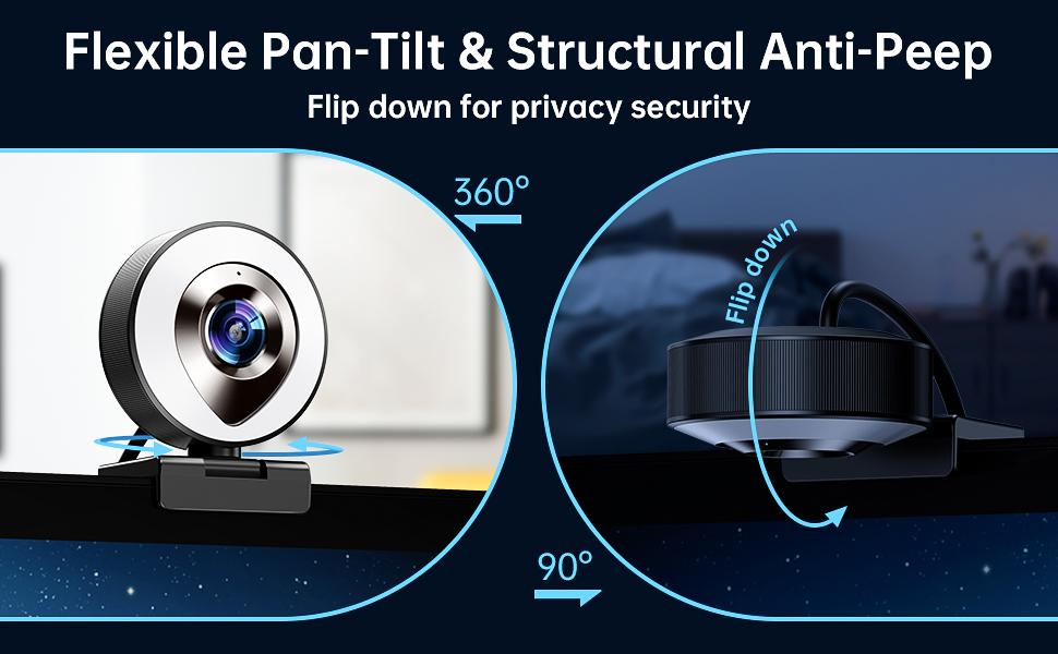 Flexible Pan-Tilt & Structural Anti-Peep