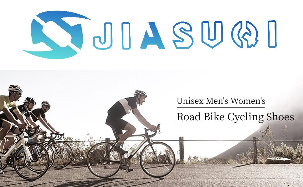 JIASUQI Cycling Shoes for Women Men Road SPD Bike Cycling Shoes Spin Shoestring