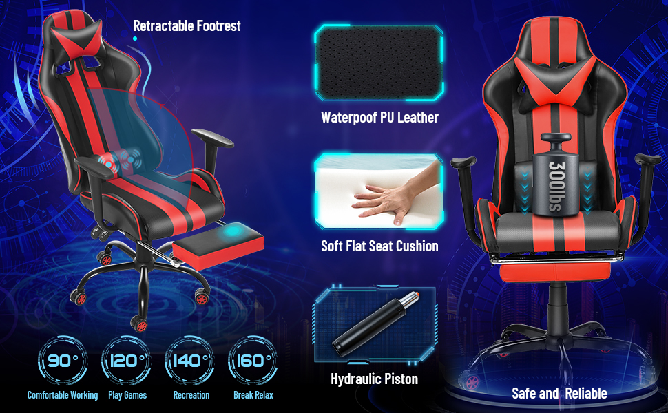 video gaming chair computer gaming chair office desk chair