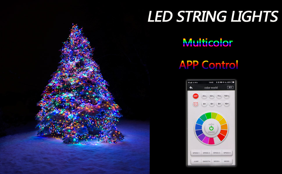 led fairy string lights mains powered plug in colour changing app bluetooth outdoor indoor twinkle