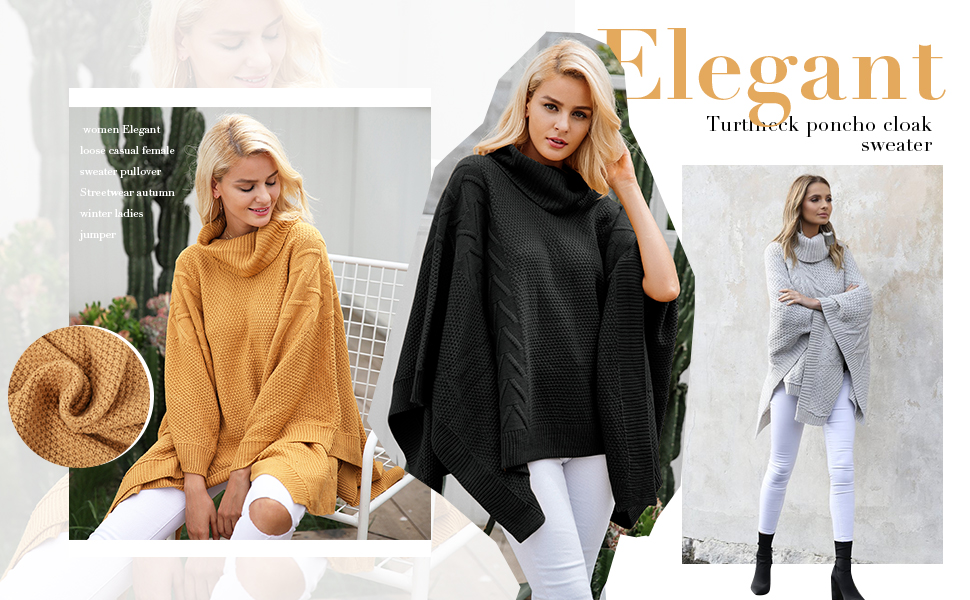 Flat knitted Turtleneck Batwing Sleeve