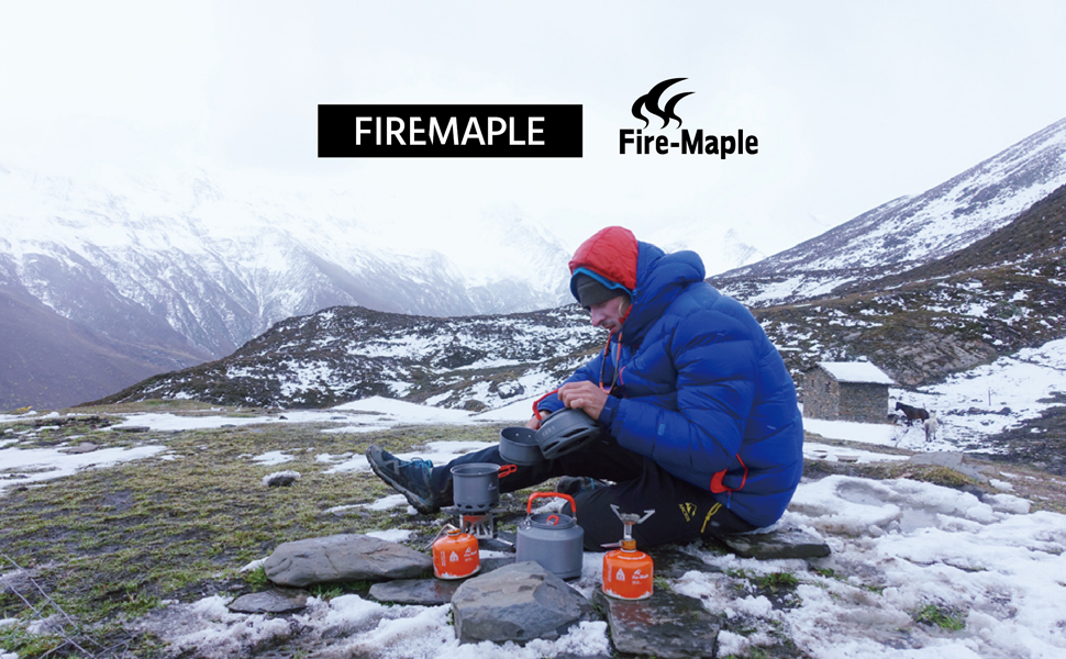 Fire-Maple Ultra-Light Titanium Backpacking Camping Outdoor Stove FMS-300T Titanium Built Survival Kit Essential Portable Camping Stove