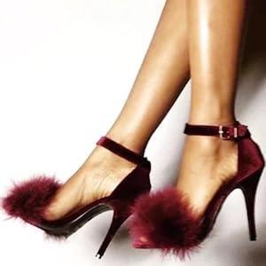 MMJULY Women's Open Toe Ankle Strap
