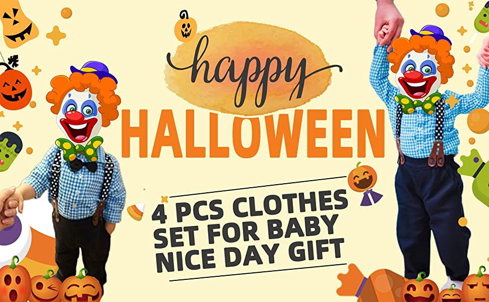 Easter Boy Clothes Set Winter Boys Formal Suit Set 4 Piece Gentleman Vest + Shirt + Pants +Bow Tie