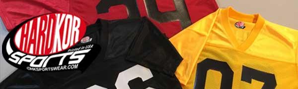 custom fan football jerseys header black gold scarlet 257