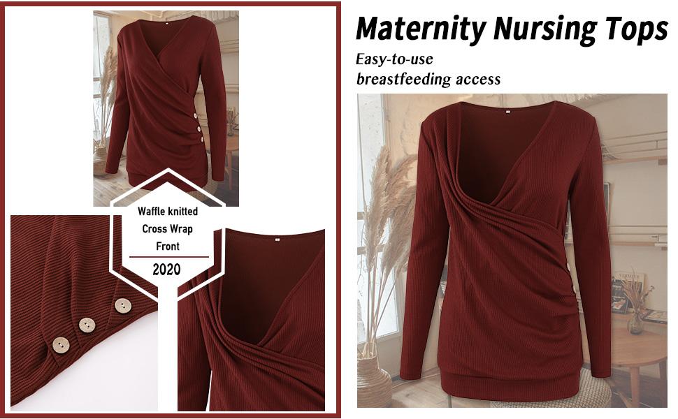 nursing long sleeve tops for breastfeeding