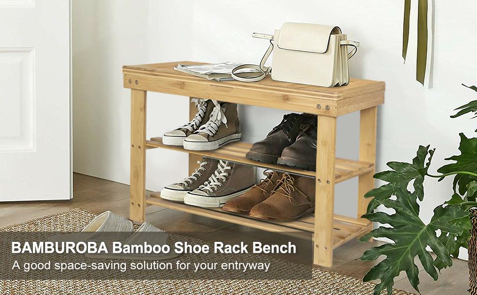 Bamboo Shoe Rack Bench-1