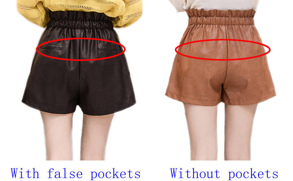 With and Without back pockets